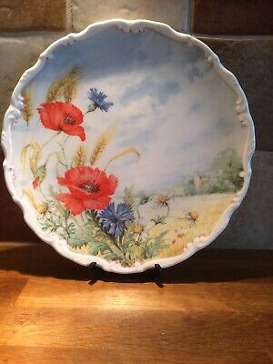 Royal Albert Flowers Of The Hedgerow Collection Plate Poppy/cornflower  1989 • 4.95£