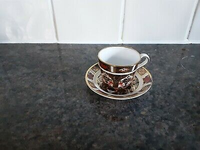 Royal Crown Derby Miniature Cup & Saucer  The Saucer Has Minor Issue See... • 9.95£
