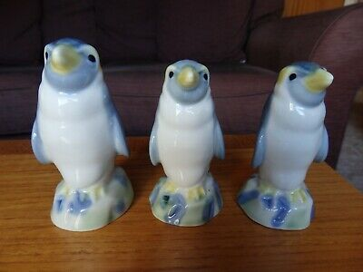3 Collectable Wade Penguin Flasks With Original Stoppers - All Empty • 14£