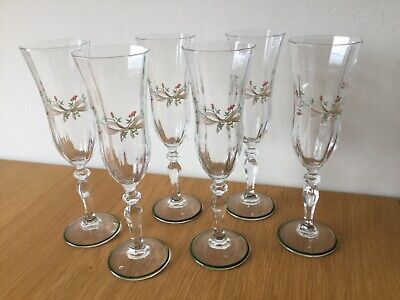 Johnson Brothers Eternal Beau Champagne Flutes × 6 Good Condition  • 9.99£
