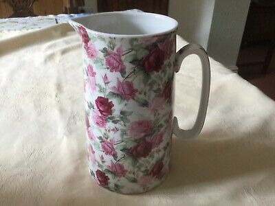"""Heron Pottery """"Pink Rose Chintz"""" Pattern Jug,Unused.7 Inches Tall. • 10£"""