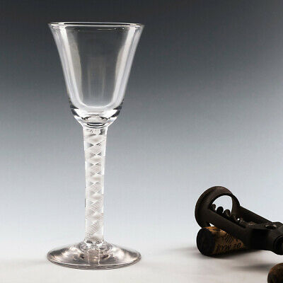 Double Series Opaque Twist Georgian WIne Glass C1760 • 132£