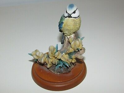 *LOOK* Lovely BFA Border Fine Arts BLUETIT On Stand A0407 Russell Willis Retired • 16£