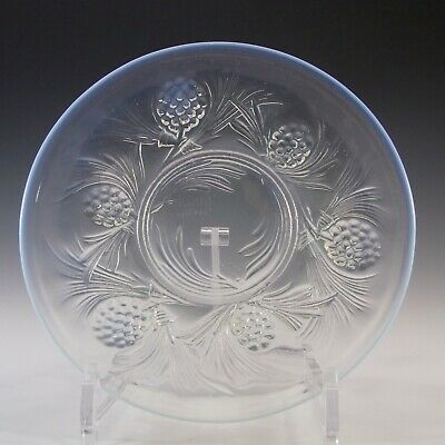 SIGNED Jobling Art Deco Opalescent Glass Fircone Plate / Dish • 55£