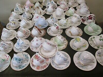 Lovely Job Lot Of 10 Vintage Mismatch China Cups & 10 Matching Saucers  • 48£