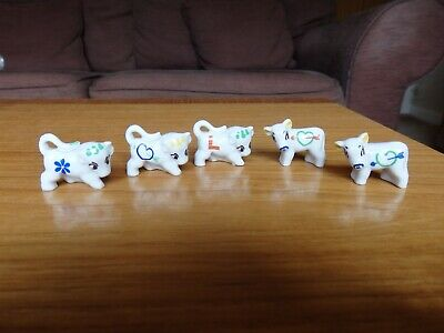 5 Tiny Wade Minikins Collectable Animal Figurines - Cows & Bulls • 20£