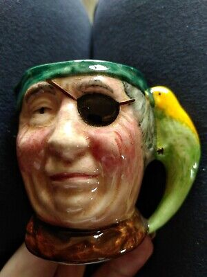 Vintage Sandland Ware Hanley England Character Toby Jug Pirate And Parrot • 0.99£