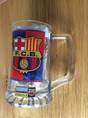 Official Barcelona FC 200 Ml Glass Tankard. Used Once. Excellent. • 9.99£