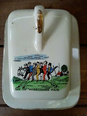 Vintage Sandland Ware Butter Dish  Off To Widecombe Fair  • 9.99£