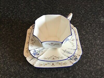 Shelley Blue Iris Cup, Saucer And Side Plate • 27£