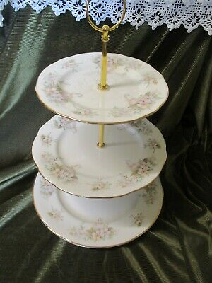 Lovely Vintage Duchess  China Plated 3 Tier Cake Stand 'lansbury' • 19.50£