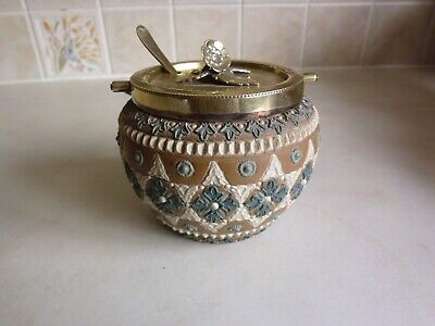 Doulton Sugar/preserve Bowl With Lid And Spoon • 16£