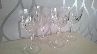 4 X Pretty Cut Glass/Crystal Wine Glasses 6 Inches In Height • 1.20£