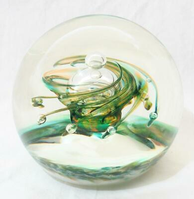 Vintage Selkirk Glass Limited Edition Paperweight - Emerald Star 58/500 • 10£
