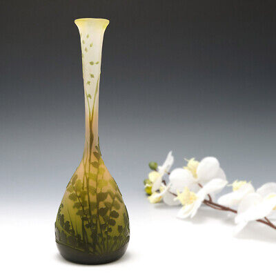 A Fine Signed Galle Cameo Vase C1898 • 1,678£