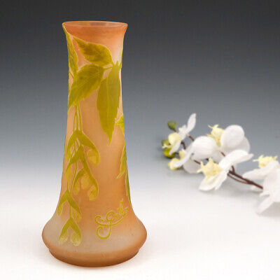 Signed Galle Cameo Glass Vase C1905 • 1,615£