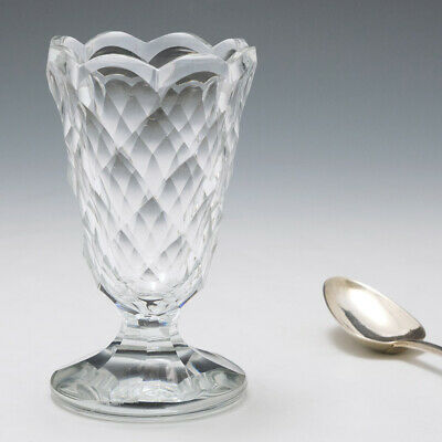 Georgian Facet Cut Syllabub Or Jelly Glass C1805 • 50£