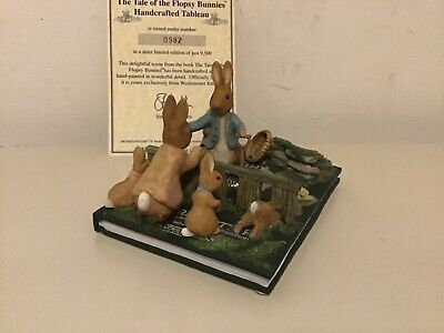 Westminster Editions ~ Beatrix Potter ~ Flopsy Bunnies ~ Tableau ~ Lt Ed • 49.99£