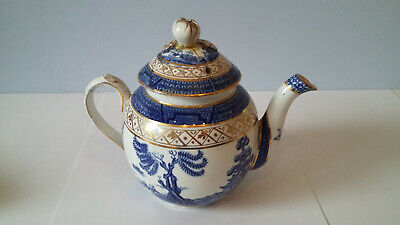Booths Real Old Willow Small 'Ovoid' Teapot UK P&P Included • 42£