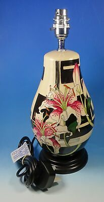 MOORCROFT Stargazer Lily L117/9 Silver Lustre Highlight 13.5  Lamp Base RRP £695 • 195£