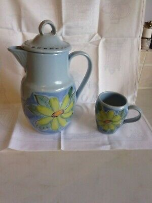 Buchan Pottery Coffee Pot And 1 Small Mug. EDINBURGH • 22.99£