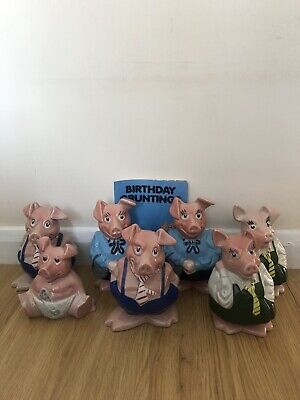 Natwest Pigs Set (7 Pigs, 4 Different Types Of Pig) • 95£