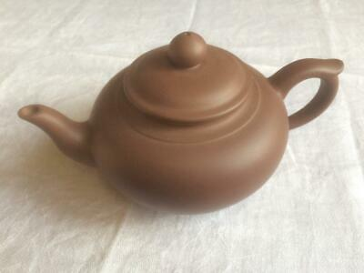 YiXing ZiSha Brown Clay Teapot Chinese Impressed Mark Pottery • 34.02£