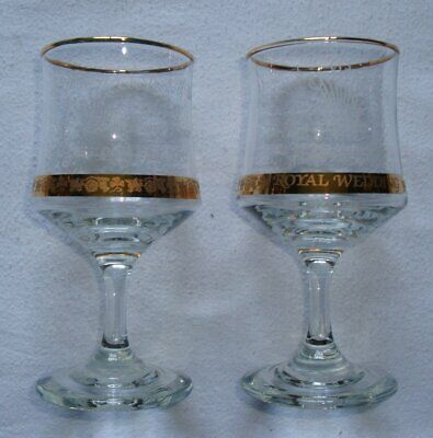 Pair Of Commemorative Wine Glasses – Royal Wedding Charles & Diana 1981 • 7.99£