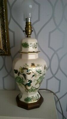 Beautiful Large Masons Ironstone Chartreuse Table Lamp 40cm/16 Inches • 10£