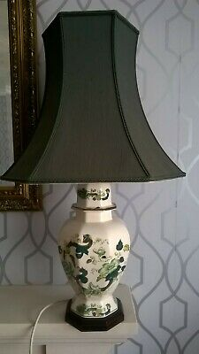 Beautiful Large Masons Ironstone Chartreuse Table Lamp 40cm/16 Inches With Shade • 12£