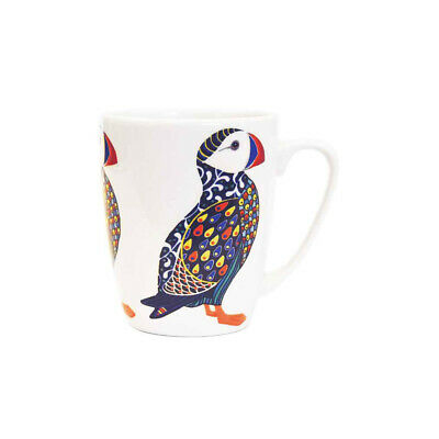 Queens Paradise Birds Puffin Fine China 400ml Oak Mug • 10.99£