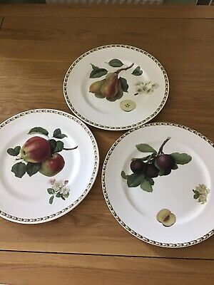 Queens Rhs Hookers Fruit Fine China Dinner Plates X3 • 12£