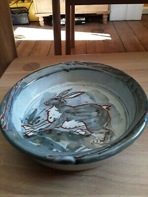 Pottery Dish With Hare Very Decorative • 5£