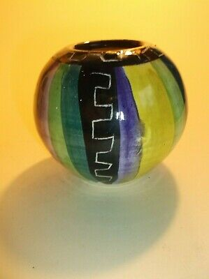 Crail Pottery Small Pot- Rare And Beautiful With Stunning Colours • 25£