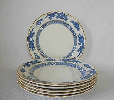 SIX BOOTHS BLUE DRAGON GILTED 175mm PLATES   - GOOD CONDITION  • 15.95£