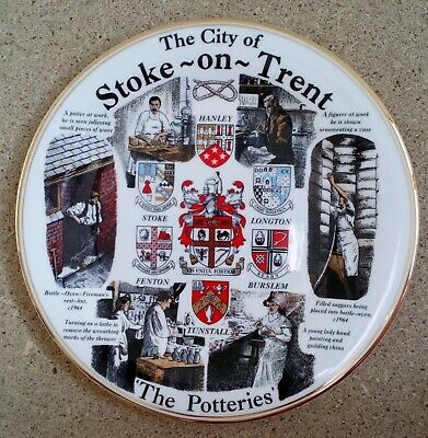 Stoke Potteries Memorabilia Plate By Edwards' China - New And Unused • 4.99£