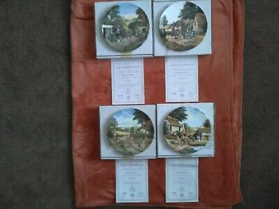 Royal Doulton Harvest Home Plates X4  By Peter Kotka With Certificates, Boxed. • 5.90£