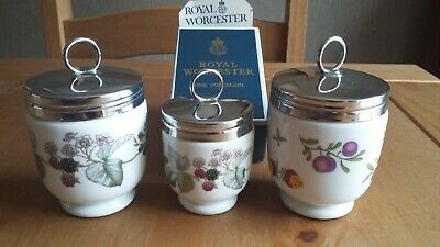 3 X Royal Worcester Egg Coddlers Lavinia Pattern Plus One Other. • 22£