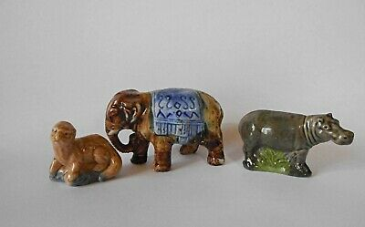 Wade? Hippo & Brown Beaver With A Ceramic Circus Elephant  • 5.99£