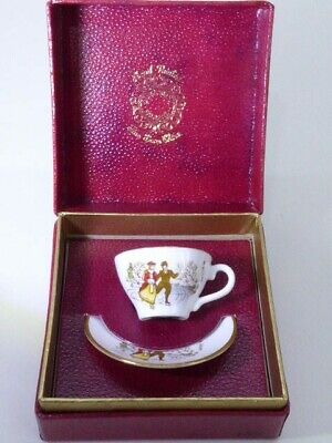 Caverswall China Christmas 1978 Miniature Cup & Saucer Skaters M Grant Boxed  • 14.99£