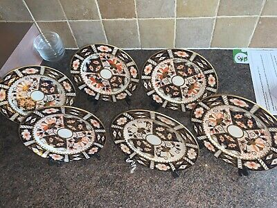 Royal Crown Derby Side Plates X 6 • 100£