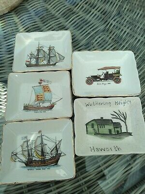 Vintage Sandland Ware 3 Boats / 1 Car / Wuthering Heights Haworth China Dishes  • 12£