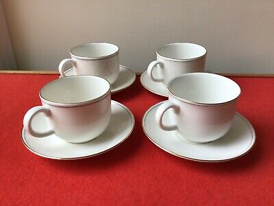 M&S MARKS And SPENCER LUMIERE 4 X Tea Cups And Saucers • 10£