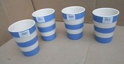 T G Green Cornishware 4 X Beakers • 80£