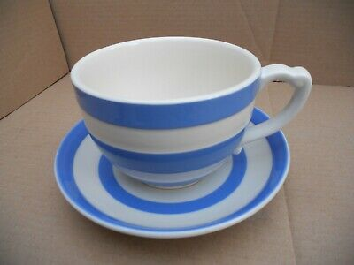T G Green Cornishware Large Cup & Saucer • 25£