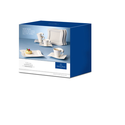 Villeroy & Boch New Wave White 12 Pc Coffee Set, Cups, Plates, Saucer 9014 • 129.99£