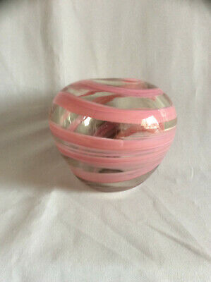 Mdina Pink & Clear Glass Bowl  • 4.99£