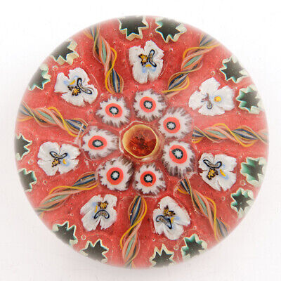 A Large Vasart Radial Complex Cane Paperweight C1950 • 154£