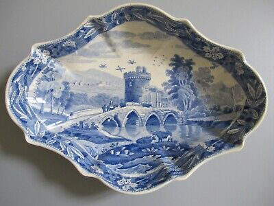 Antique Spode Lucano Sweet Dish C.1812-33 (Ref:10) • 40£