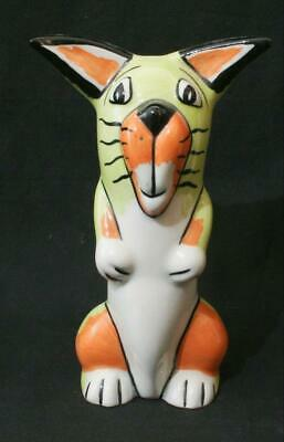 Superb Lorna Bailey Signed Cat Figure #3 - Lime Green & Orange 5  In Height • 17.79£